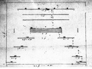 John Webb: Plan of the stage for 'The Siege of Rhodes', 1658-9
